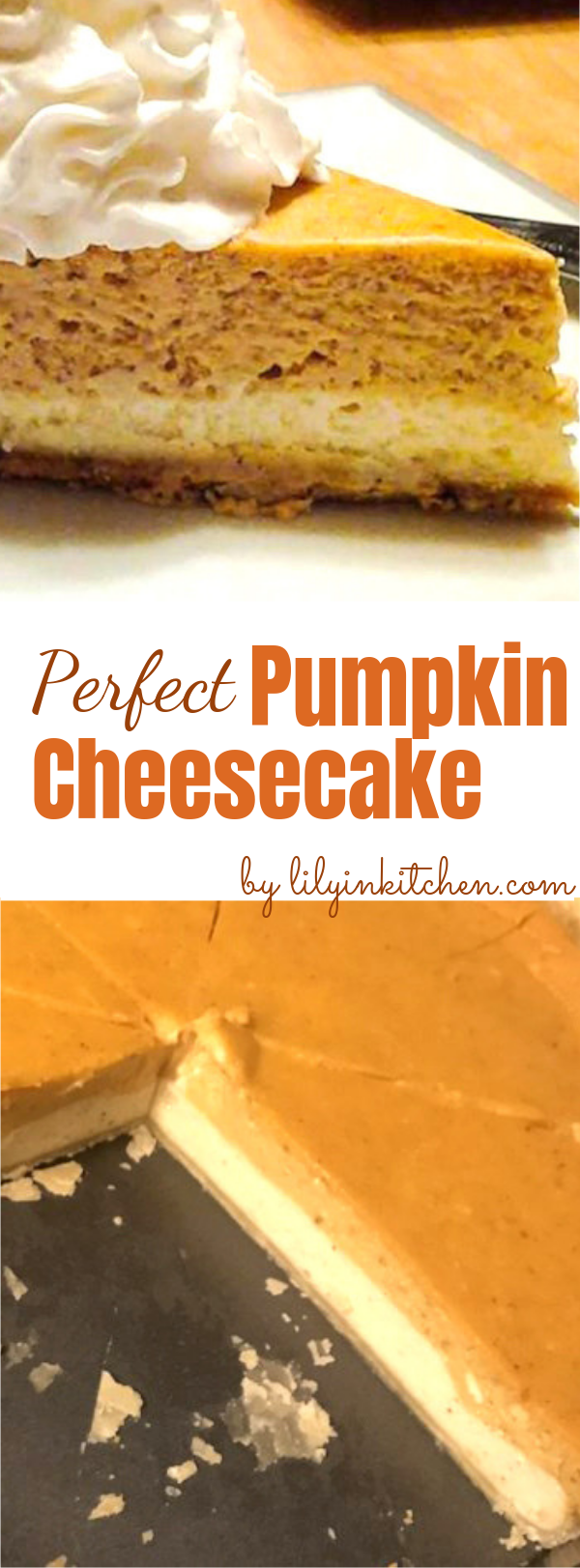 Double Layer Pumpkin Cheesecake This Double Layer Pumpkin Cheesecake is a perfect dessert for holidays. Loaded with spice and pumpkin, and a layer of creamy cheesecake, it's definitely a crowd-pleaser! #pumpkin #thanksgiving #dessert #cheesecake #pumpkincheesecake #pumpkincheesecake