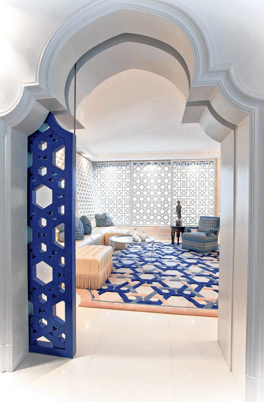 Blue Moroccan sliding door... clever. | HOME | Pinterest | Sliding ...