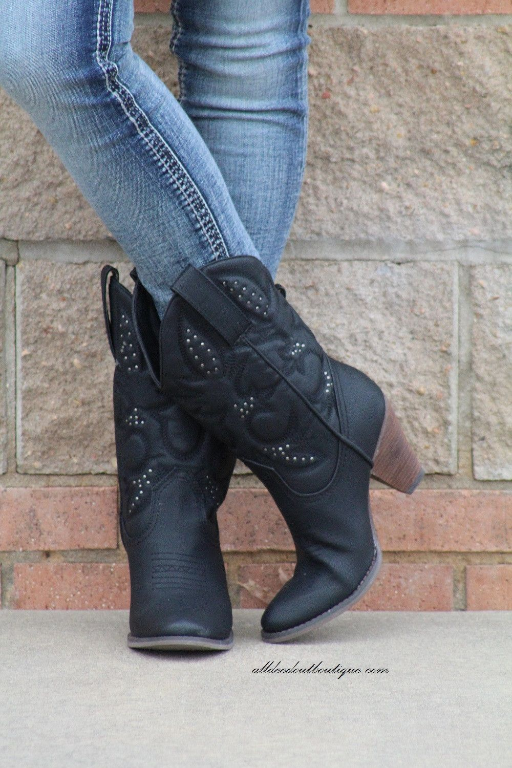 ac3ff008c20 Very Volatile | Dallas Cowgirl Boots Black | shoes | Cowgirl boots ...