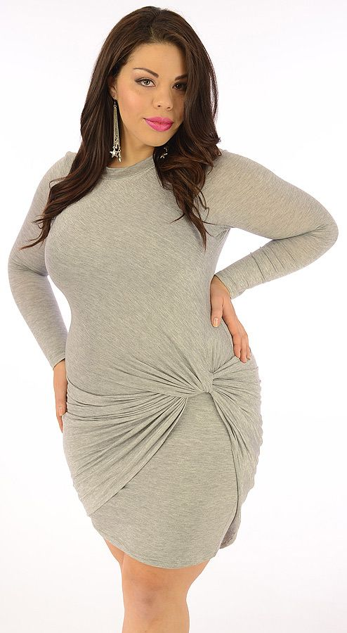 testy (plus/grey)-great glam is the web's best sexy plus size