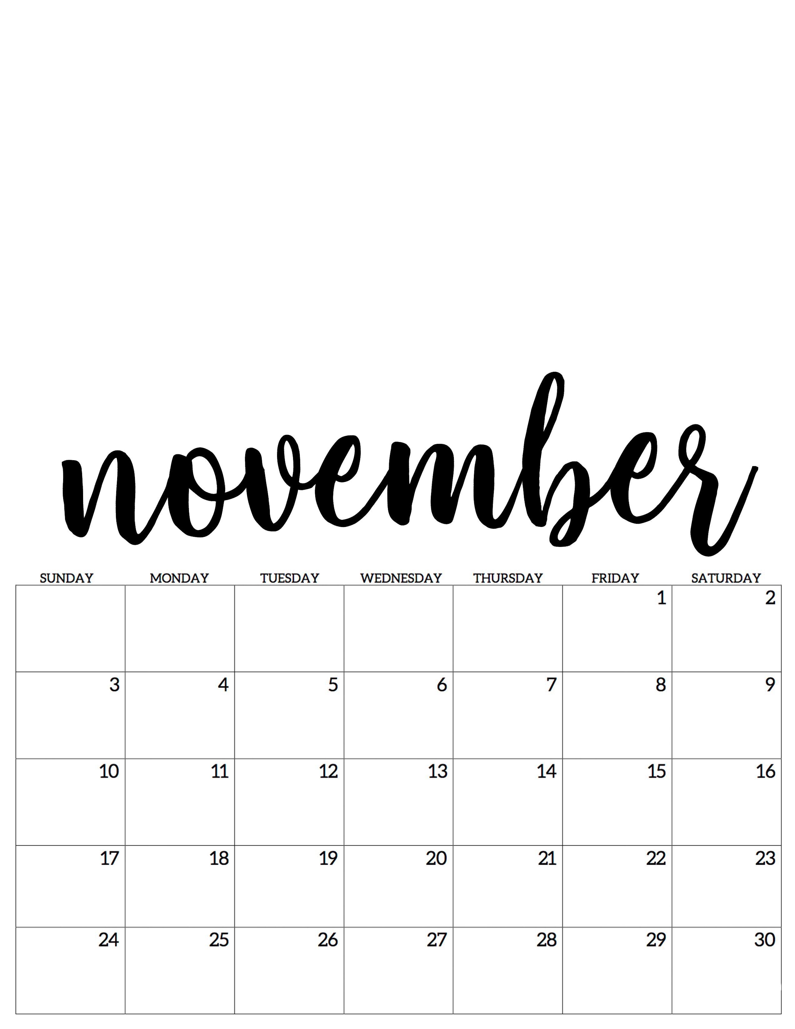 november kalender calendar 2019 #monatnovember