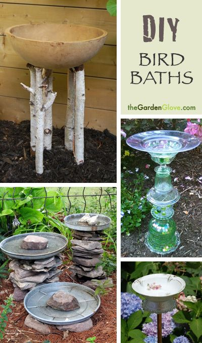 Fall Is For The Birds 7 Diy Bird Baths Diy Bird Bath Garden Projects Lawn And Garden