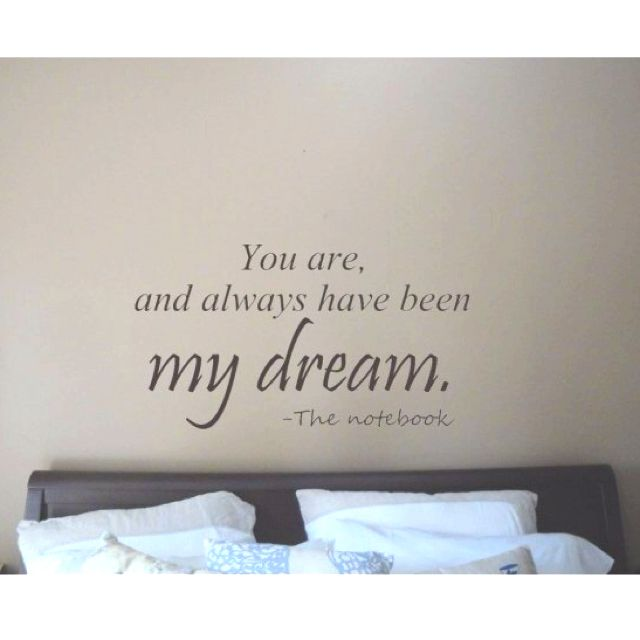 Notebook Quote On The Wall Above A Couple S Bed Cute Overload 3