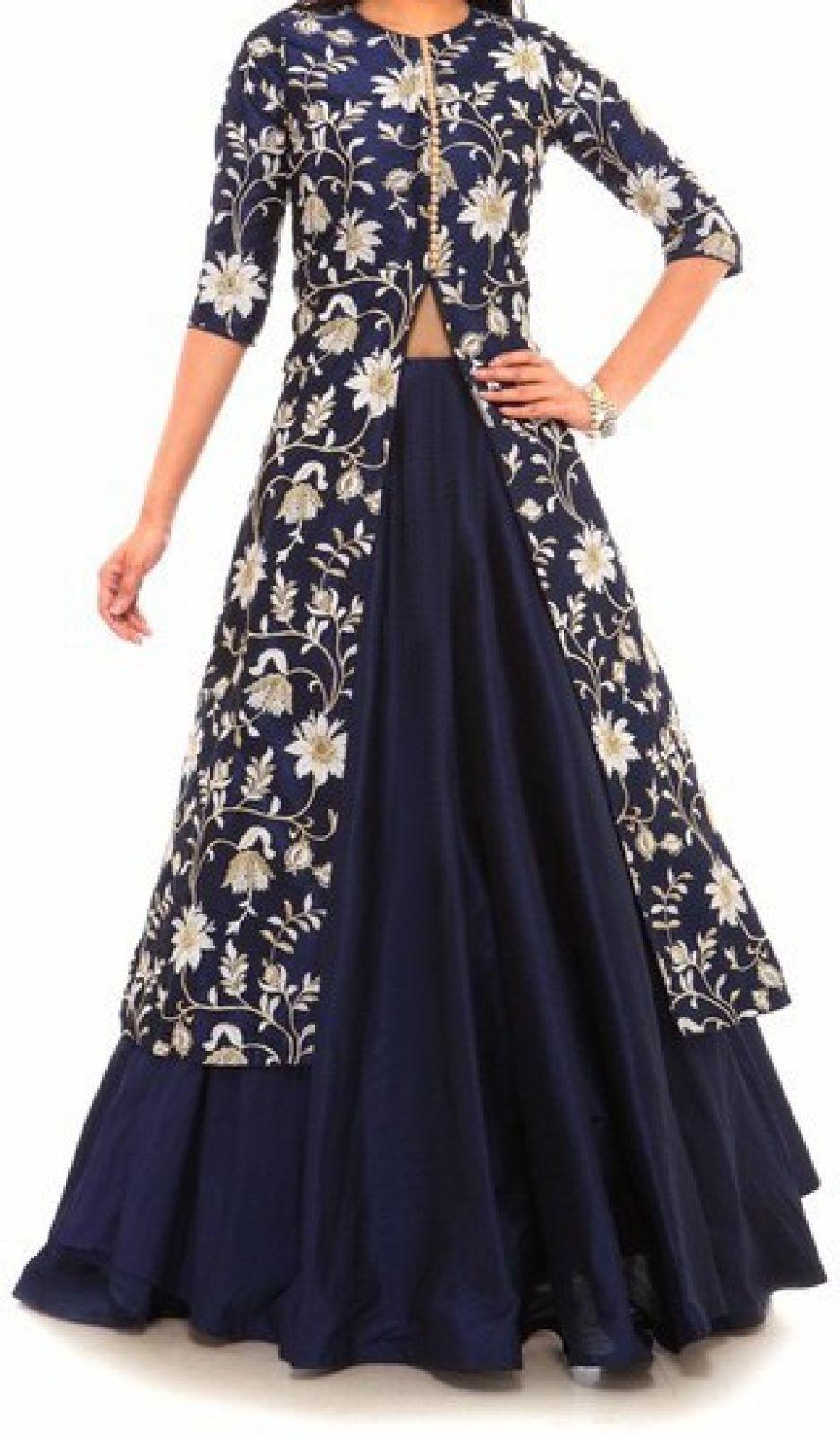 a737b68c339ec1 Astha Designer Embroidered Women's Ghagra, Choli, Dupatta Set - Buy Blue  Astha Designer Embroidered