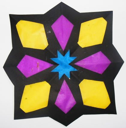 Tissue Paper Stained Glass Crafts For Kids