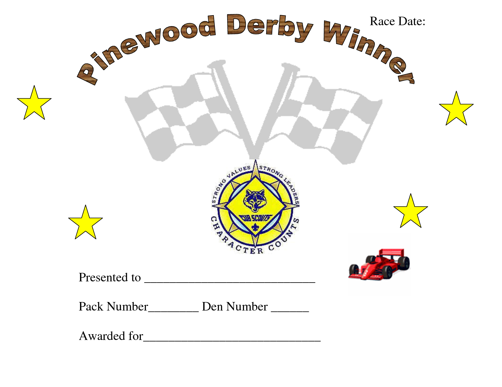 photograph regarding Pinewood Derby Awards Printable identify Pin upon Cub Scouts