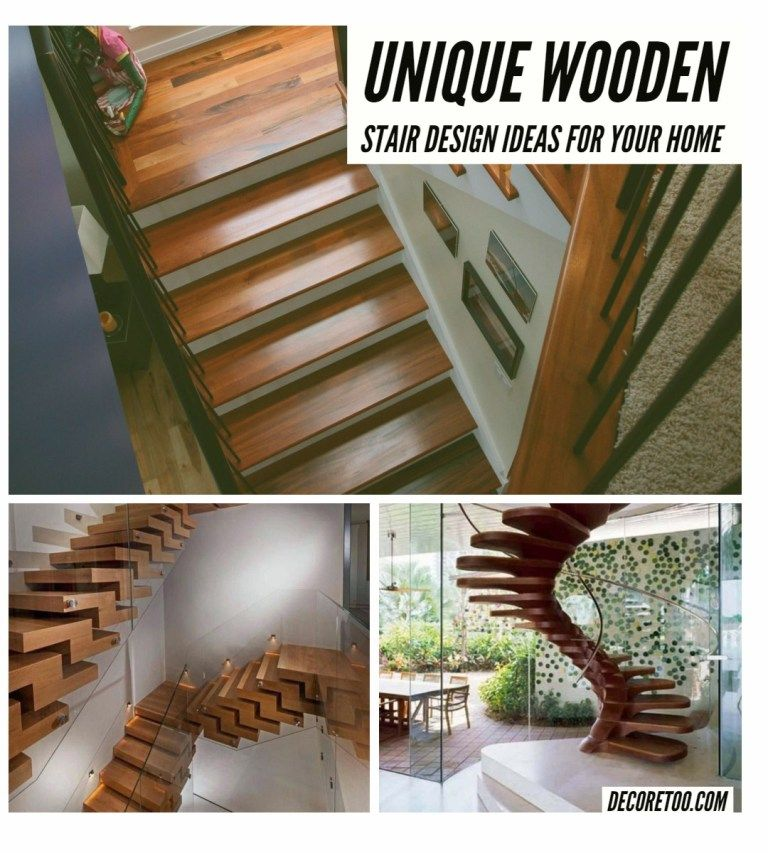Unique Wooden Stair Design 1 — Design & Decorating