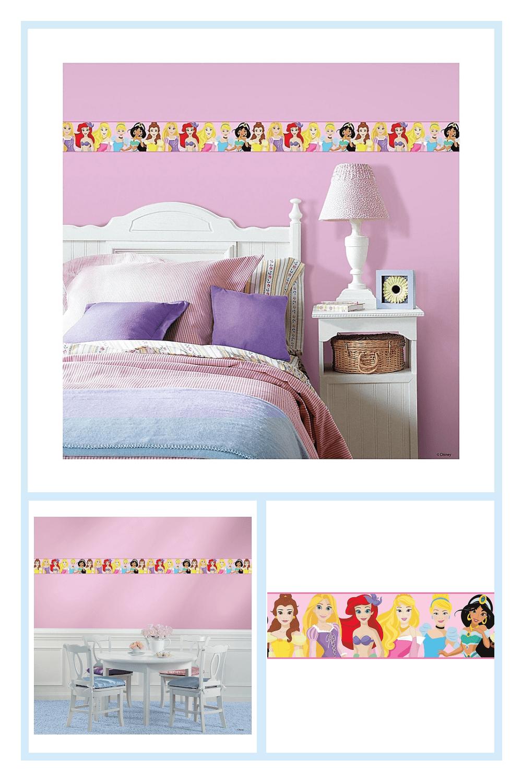 Roommates Disney Princess Peel And Stick Wallpaper Border Bed Bath Beyond Peel And Stick Wallpaper Wallpaper Border Cleaning Walls
