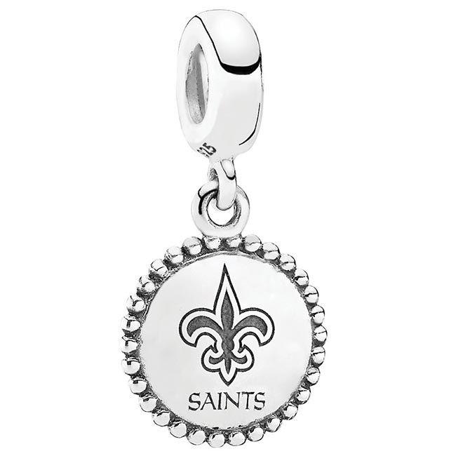 Pandora New Orleans Saints NFL Hanging Charm | New orleans saints ...