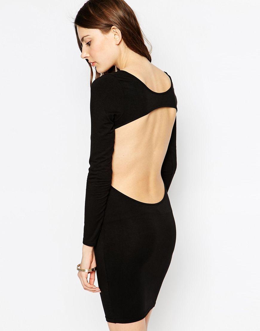 Immagine 1 di Club L - Essentials - Vestito longuette in jersey con schiena scoperta