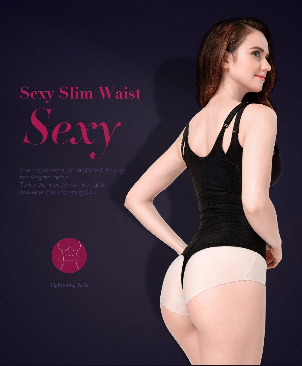 f49171fd4 Body Shaper Slimming Corset Bodysuit Shapewear Underwear Waist Modeling  Strap Women Body Shaper