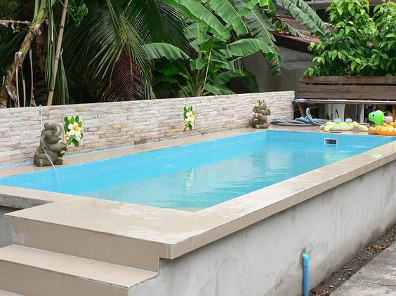 modern decor above groung pool | modern rustic above ground swimming ...