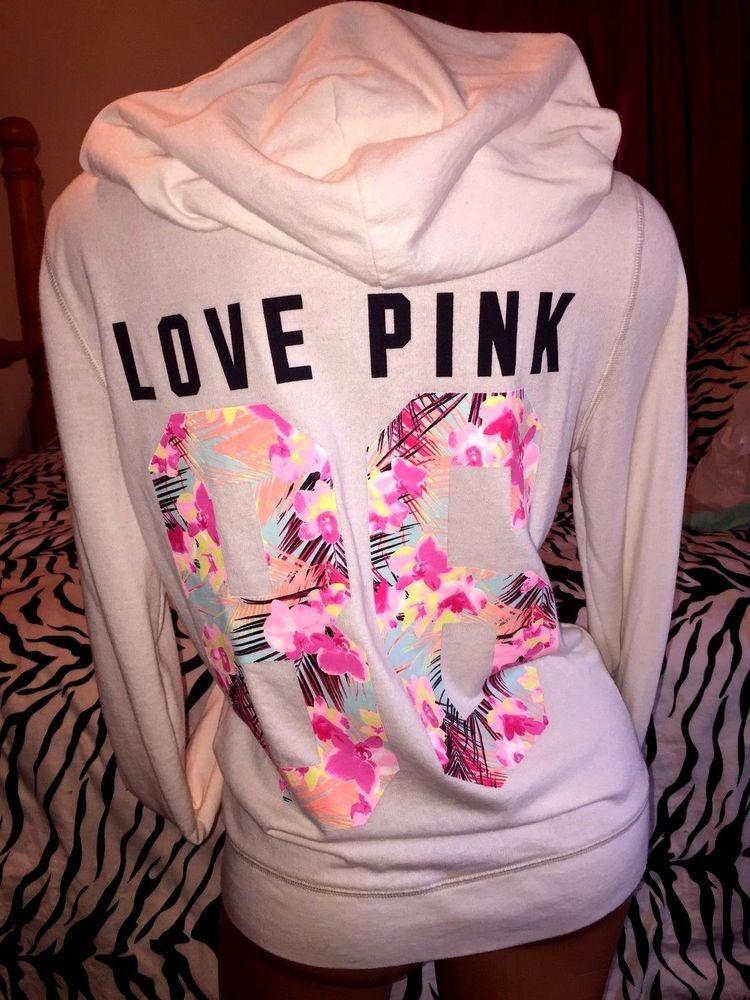 Victoria's Secret PINK Tropical PALM RAINBOW print sweatshirt ...