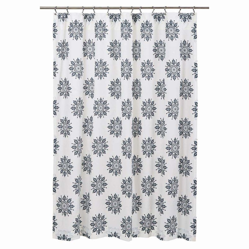 Sheppard 100 Cotton Single Shower Curtain Primitive Bathrooms Indigo Shower Curtain Fabric Shower Curtains
