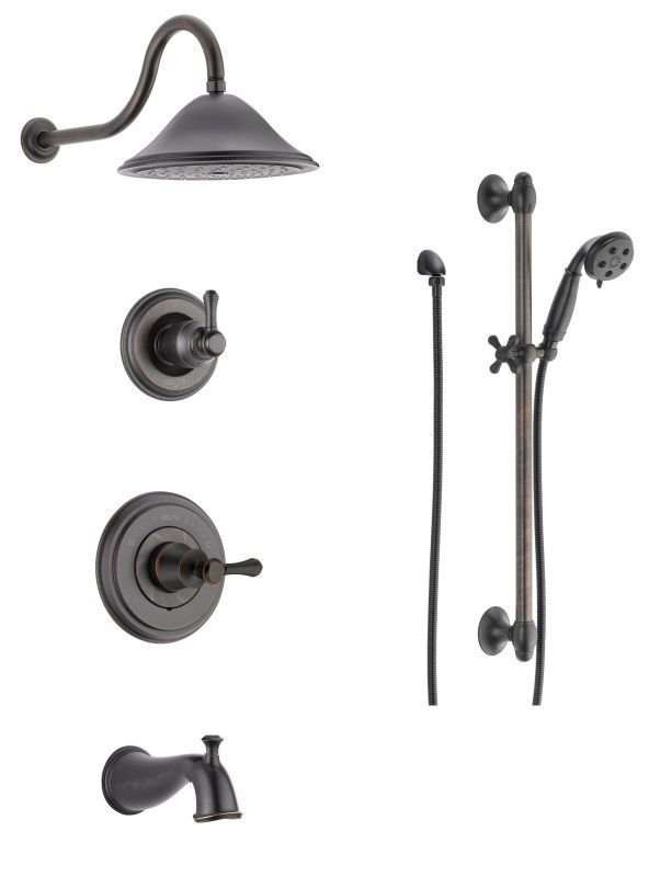 Delta DSS-Cassidy-1404 Monitor 14 Series Pressure Balanced Tub and Shower System Venetian Bronze Faucet Shower System Custom Shower