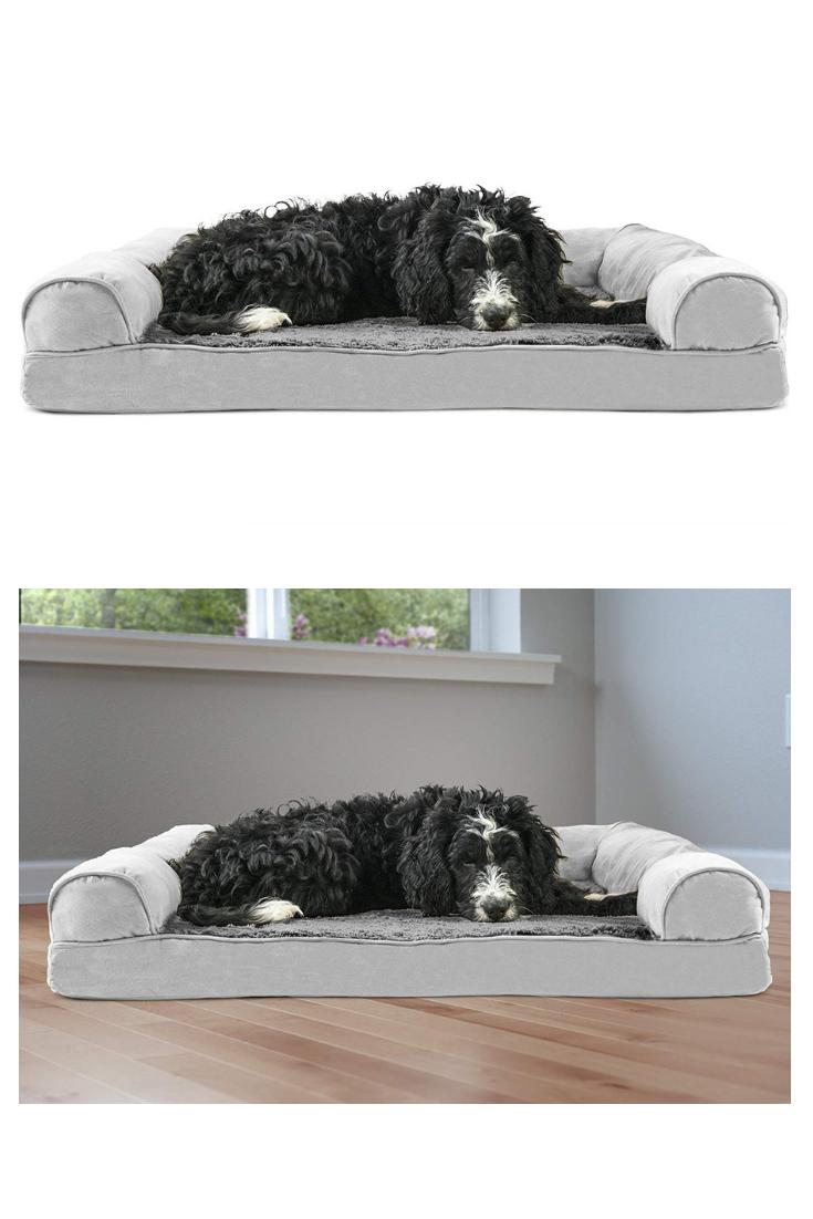 FurHaven Pet Dog Bed Orthopedic Ultra Plush SofaStyle