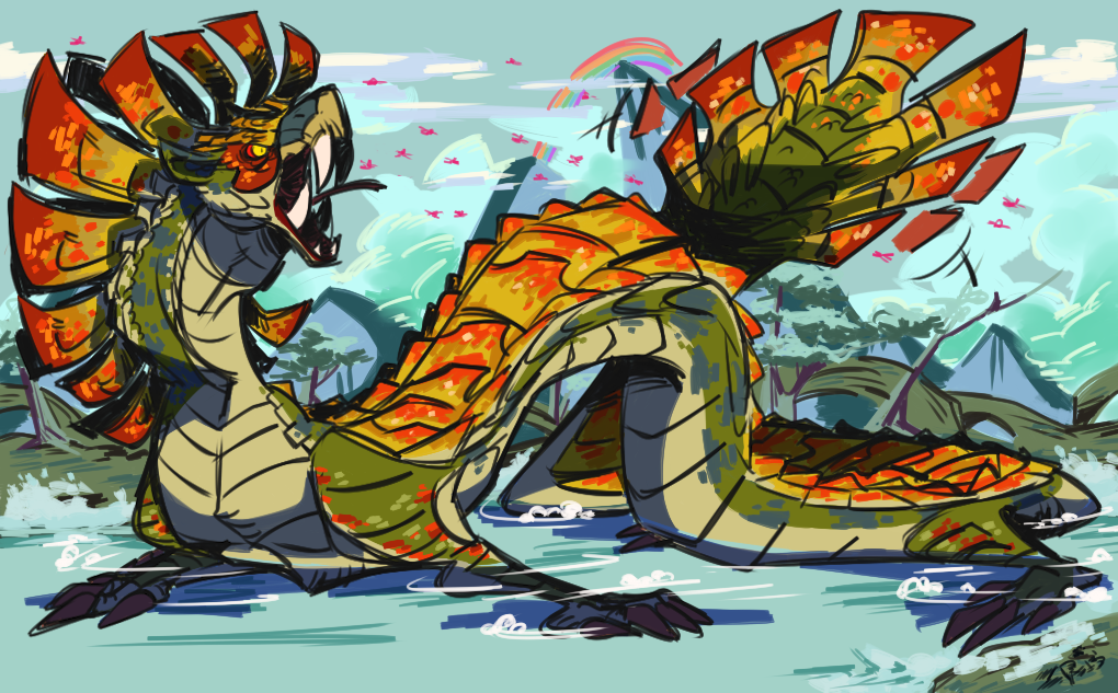 Mh4u Najarala By Z0mbiraptor On Deviantart Monster Hunter