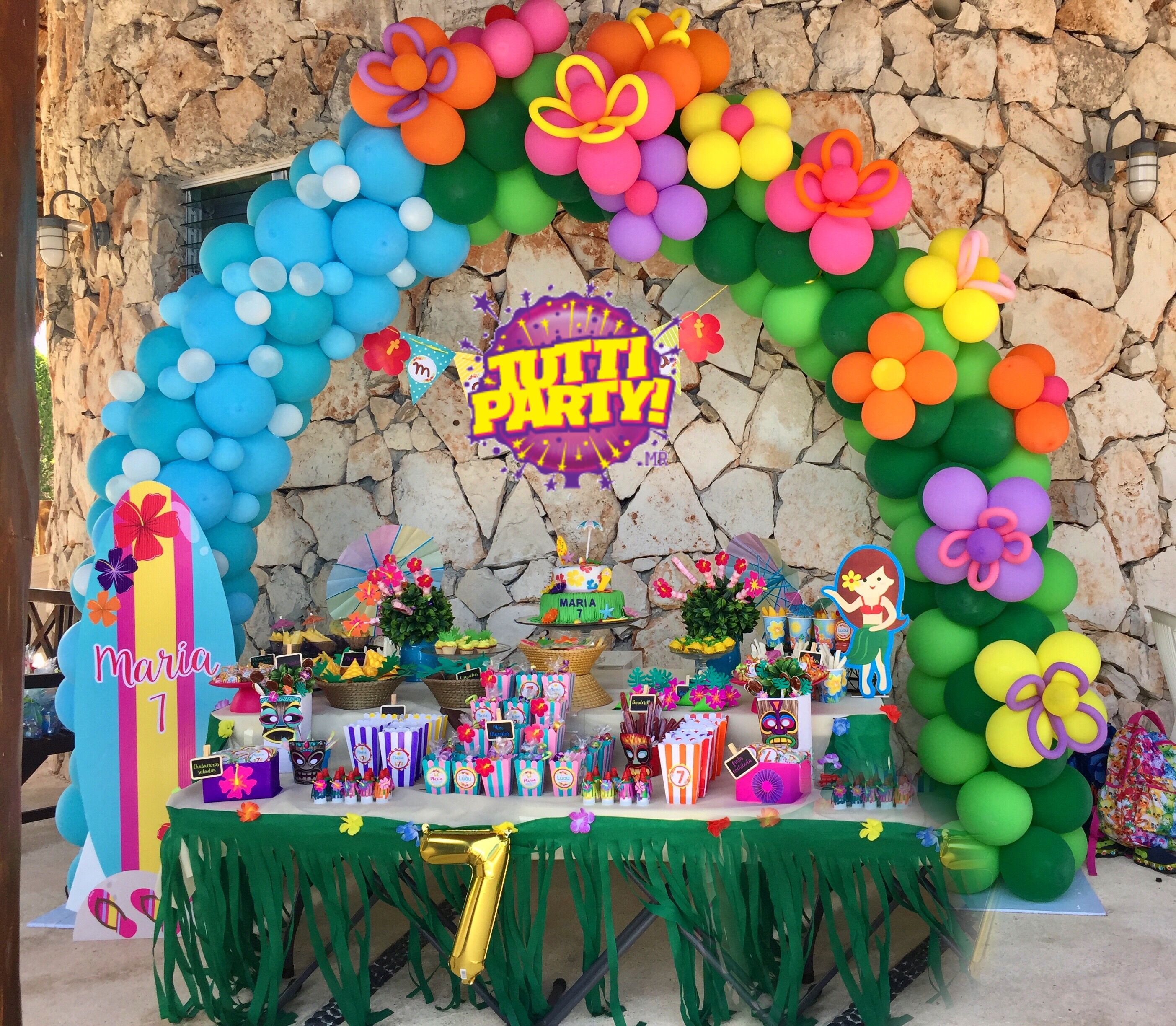 Decoration Anniversaire Hawaii Hawaian Party Balloons Decorations Hawai Party Ideas
