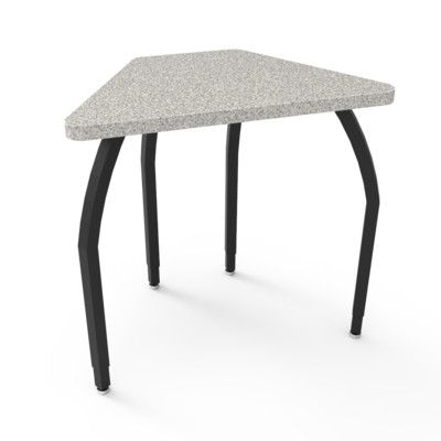 WB Manufacturing Elo Laminate Adjustable Height Collaborative Desk Desk Finish: Gray Nebula, Frame Finish: Black