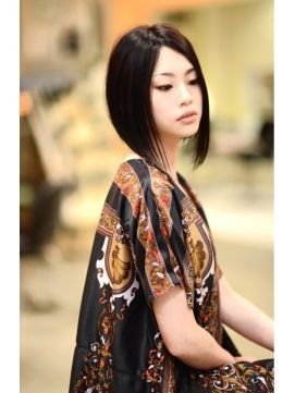 Semi-short bob haircut. Asian-chic?