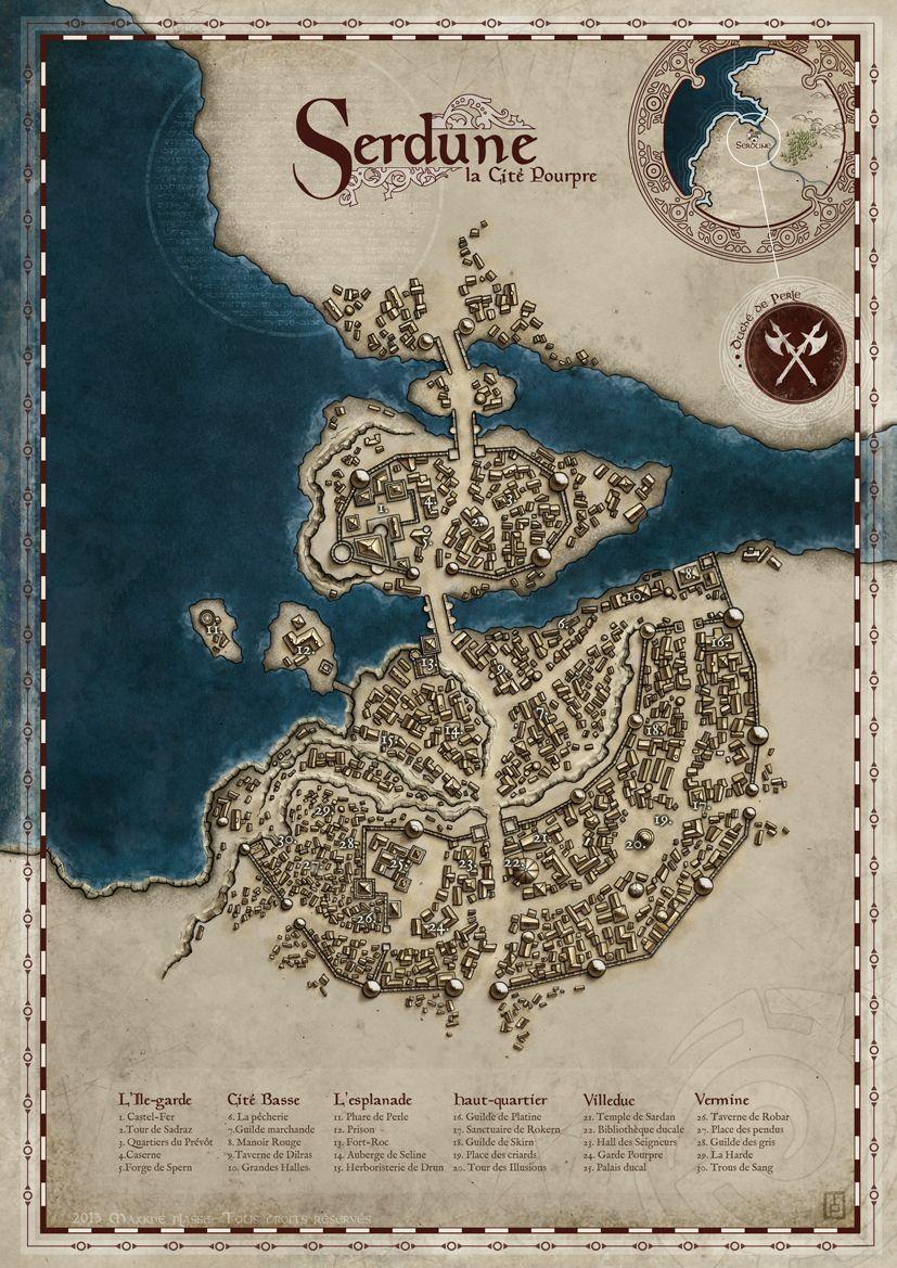 Serdune, The Crimson City by MaximePLASSE.deviantart.com ...