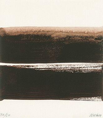 """Pierre Soulages (Born 1919 Rodez) """"Sérigraphie No. 23"""" from """"Soulages - La lumière et l'espace"""" (Nathalie Reymond) Color silkscreen 1999 24.5 x 21.5 cm Fig. 15 x 21.5 cm"""