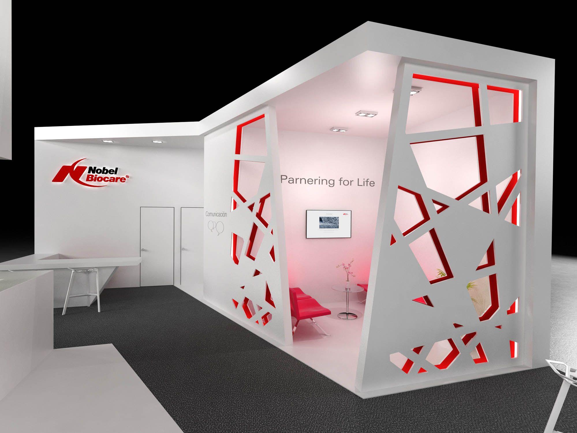 Dise o 3d realizado por by quam de un stand para la feria for Disenos de stand para exposiciones