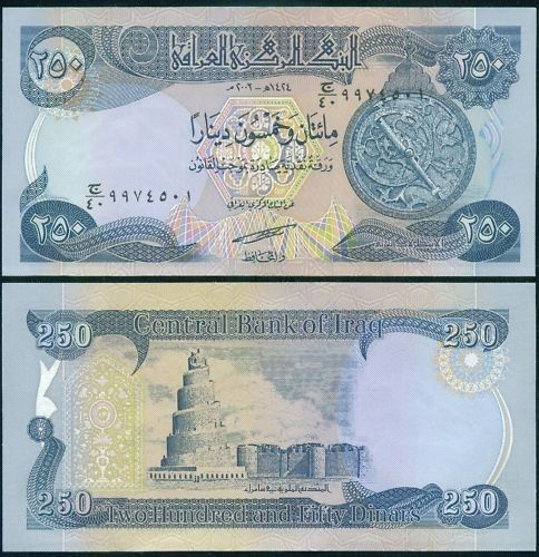 New Iraqi Dinar 250 With Images