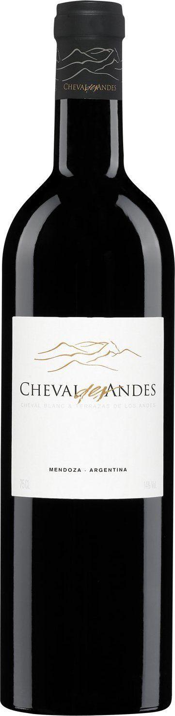 Cheval Des Andes 67 Malbec 25 Cabernet Sauvignon 8 Petit Verdot 2013 Cheval Des Andes Chateau Cheval Blanc Terrazas Vinos Botellas De Vino Malbec