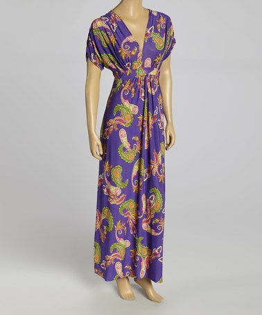 Another great find on #zulily! Violet & Pink Paisley Surplice Maxi Dress - Women #zulilyfinds