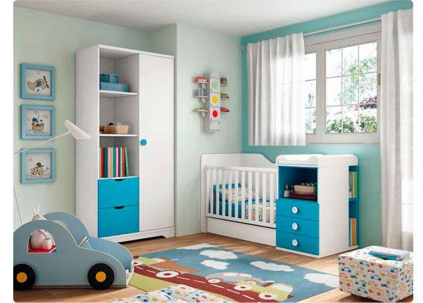 Habitación para bebé con cuna convertible | Novedades de mueble ...