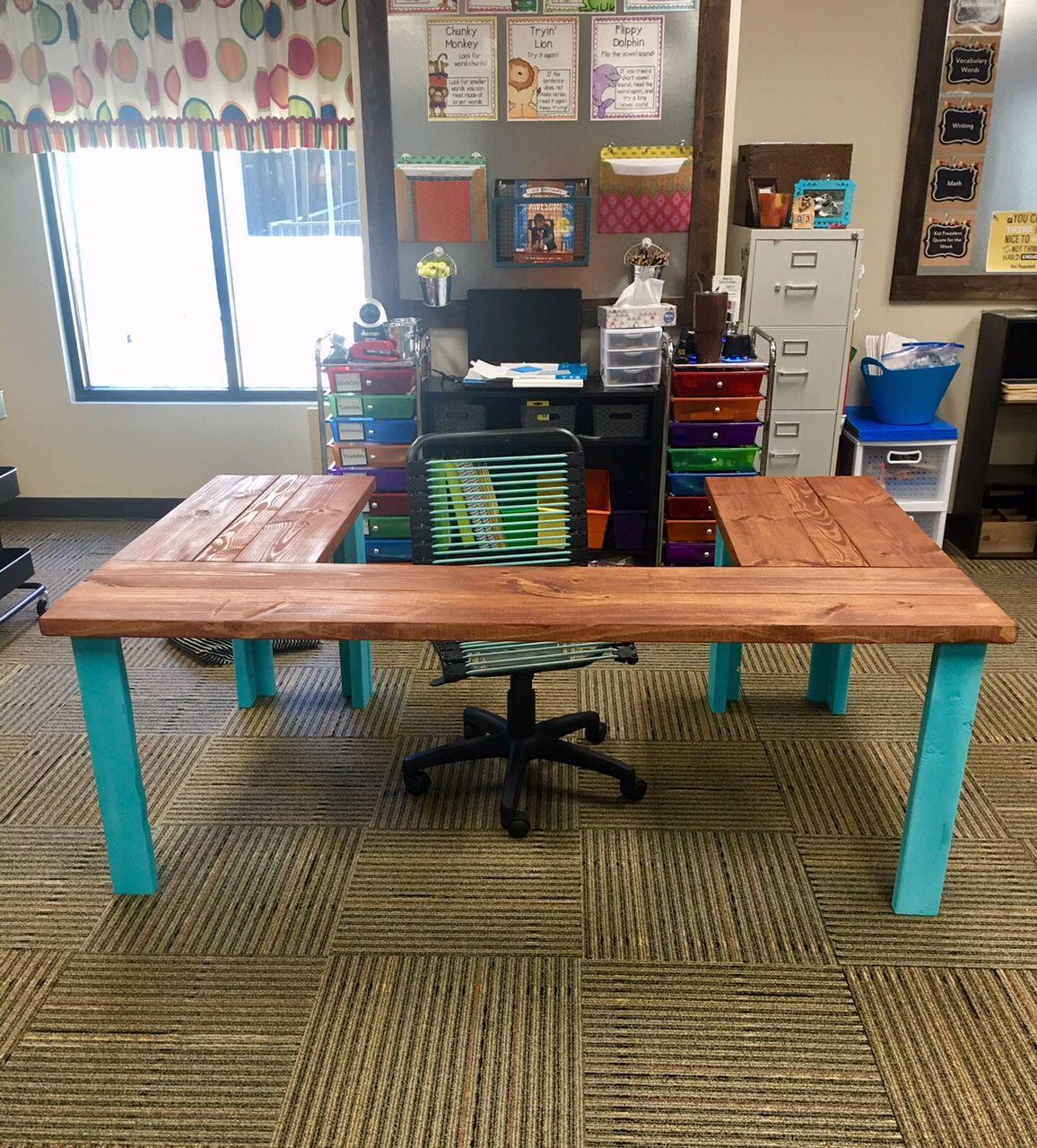 Wife's Kindergarten Classroom | Ana White teacher projects classroom desk