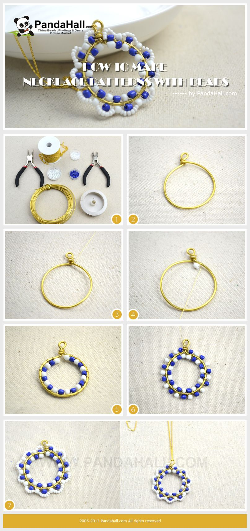 how to make a necklace with wire and beads