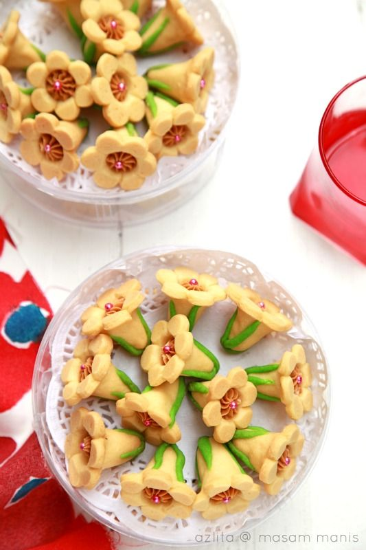 Biskut Bunga Seroja Masam Manis Ide Makanan Resep Biskuit Resep
