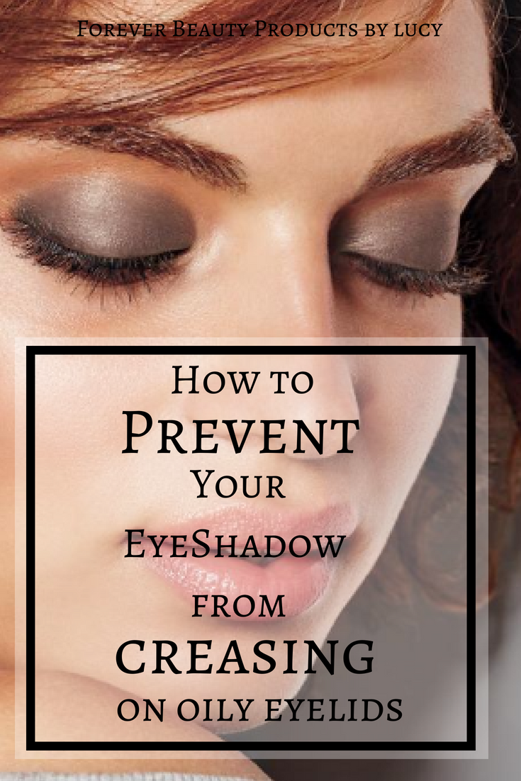 Prevent Eye Shadow Creasing in 2 easy steps by using an eyeshadow primer oily lids that will also prevent your eyeshadow from fading.