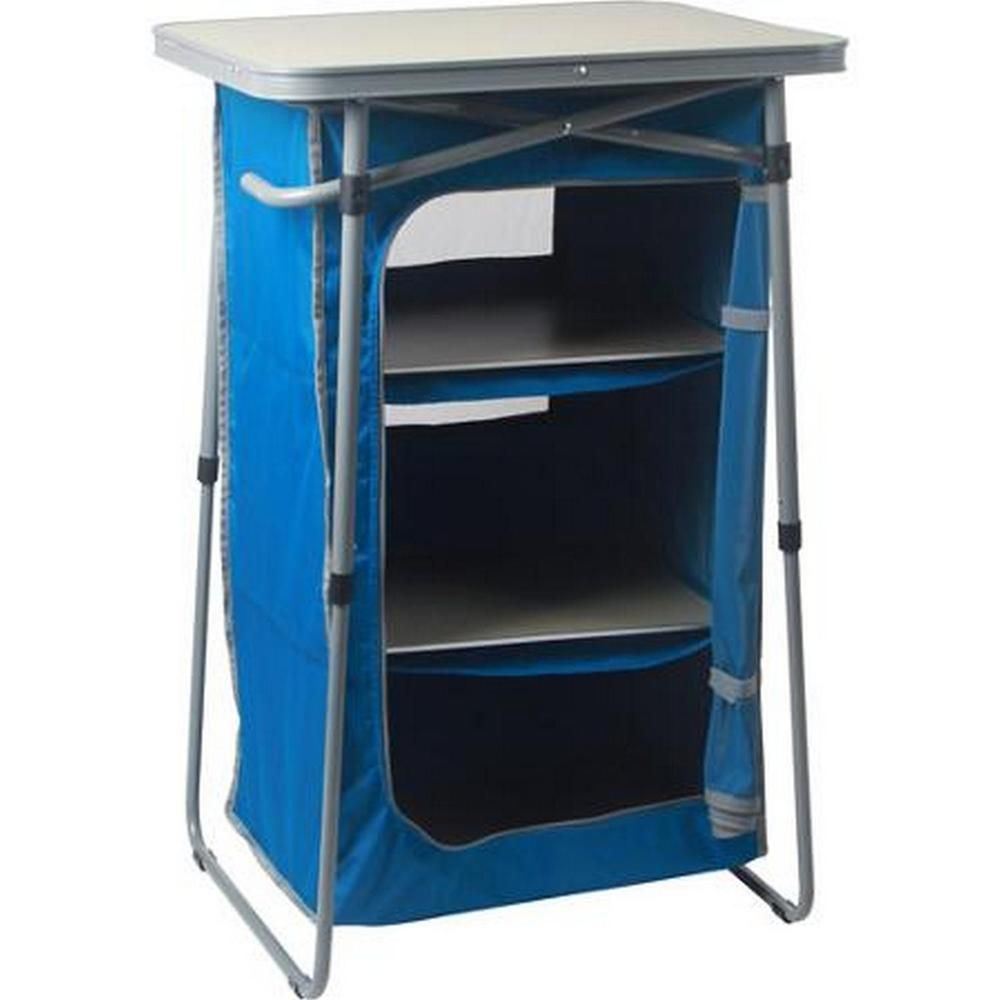 3 Shelf Collapsible Camping Cabinet Instant Dresser