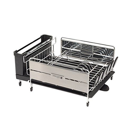 Sabatier Expandable Compact Dish Rack With Wine Glass Hol Wine
