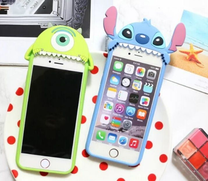 2016 cute cartoon silicon Stitch 3D shape cover for Apple iPhone 6 6s phone  Case a9cb234bdd1a3