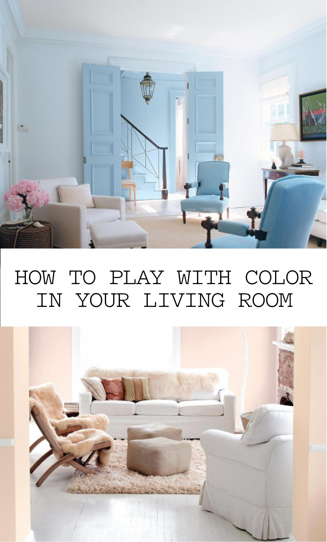 8 Ways to Play with Color in Your Living Room | Martha ...