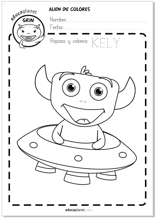 COLOREA ALIENS - Ficha de Infantil | Actividades niños | Pinterest ...