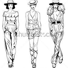 Dibujo Plano De Pantalon De Mujer Fashion Figure Drawing Fashion Design Sketches Fashion Drawing Sketches