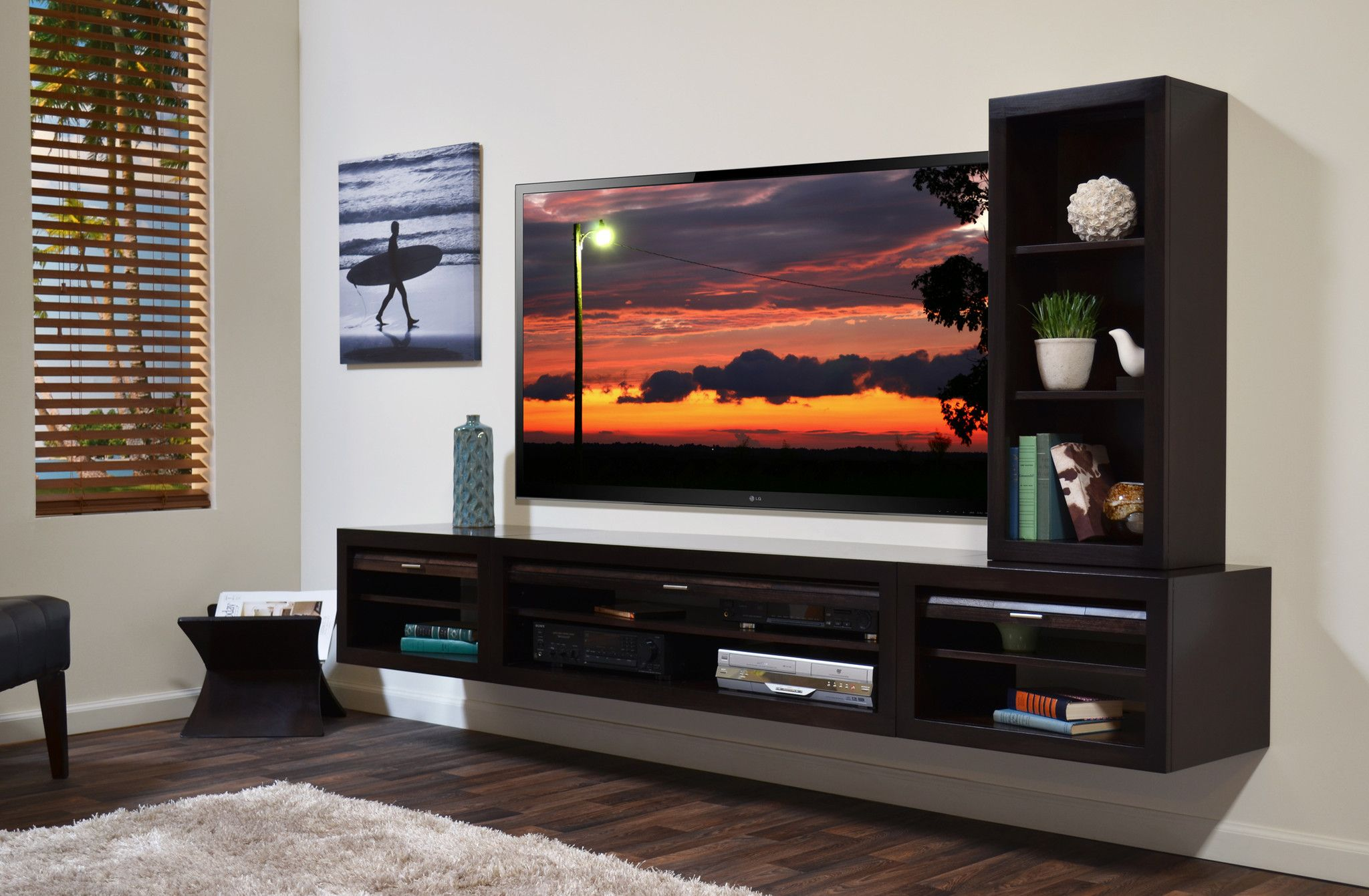 Entertainment Center Floating Shelves