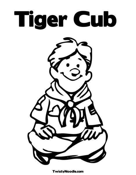 Boy Scout Sitting Coloring Page | Boy scouts | Pinterest | Dibujos y ...
