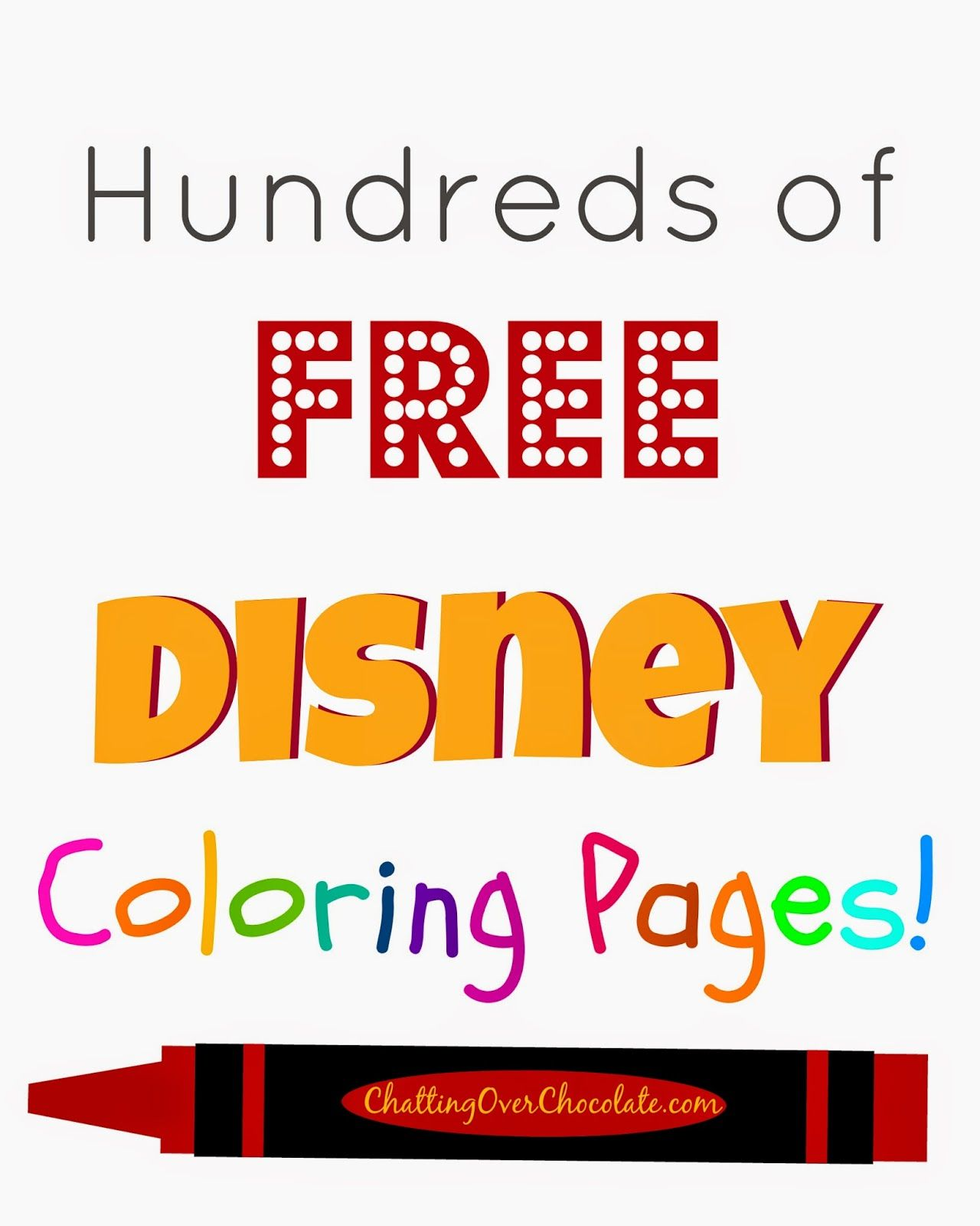Hundreds Of Free Disney Coloring Pages