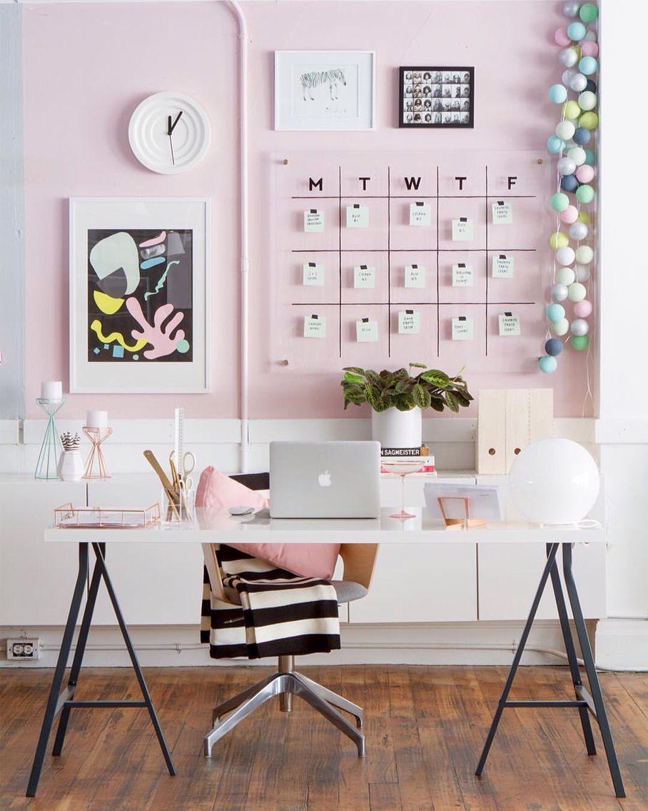 Pinterest Raquelshaer Instagram Raquelshaer Pink Office Decor Home Office Decor Interior