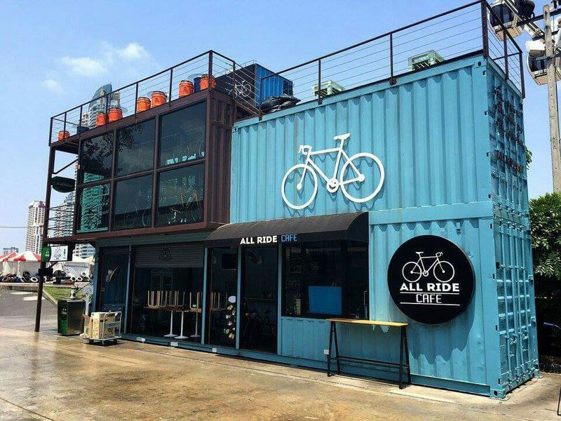 All ride caf in bangkokcontainer haus container haus for Minihaus container
