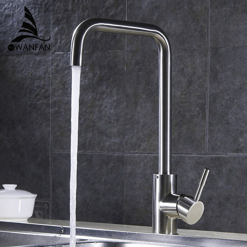 304 Stainless Steel 360 Rotatable Modern Kitchen Faucet Single Handle Wash Basin Sink Mixer Fa Modern Kitchen Sink Faucets Modern Kitchen Faucet Kitchen Faucet