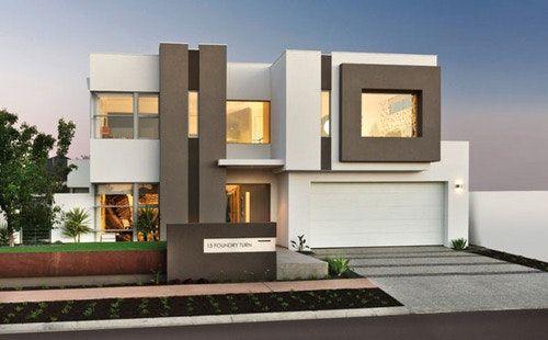 Decoration Facade Maison Contemporaine Avec Architecture Ultra ...