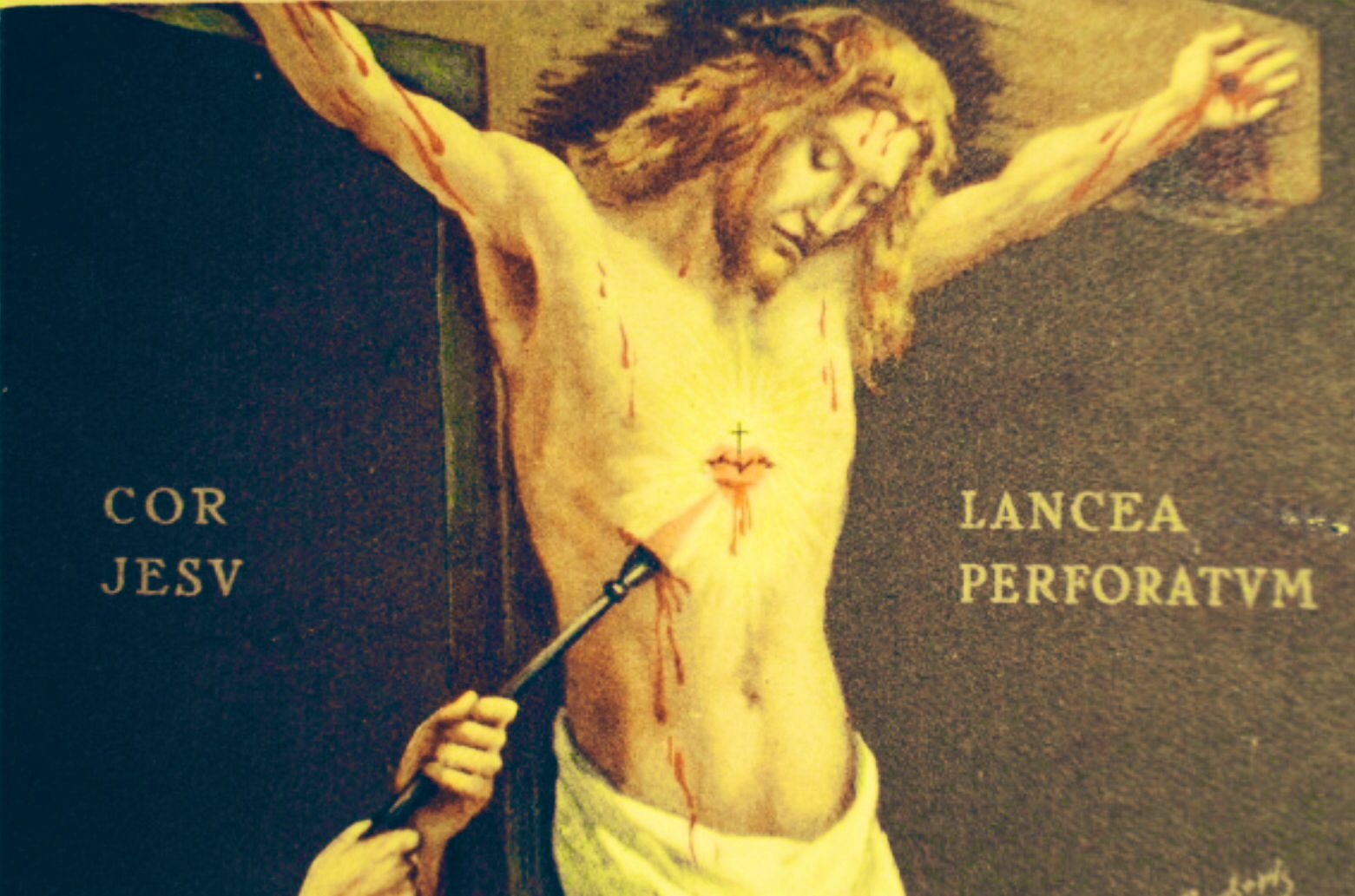 Sacred Heart of Jesus, pierced with a lance | Heart of jesus, Jesus, Traditional catholicism