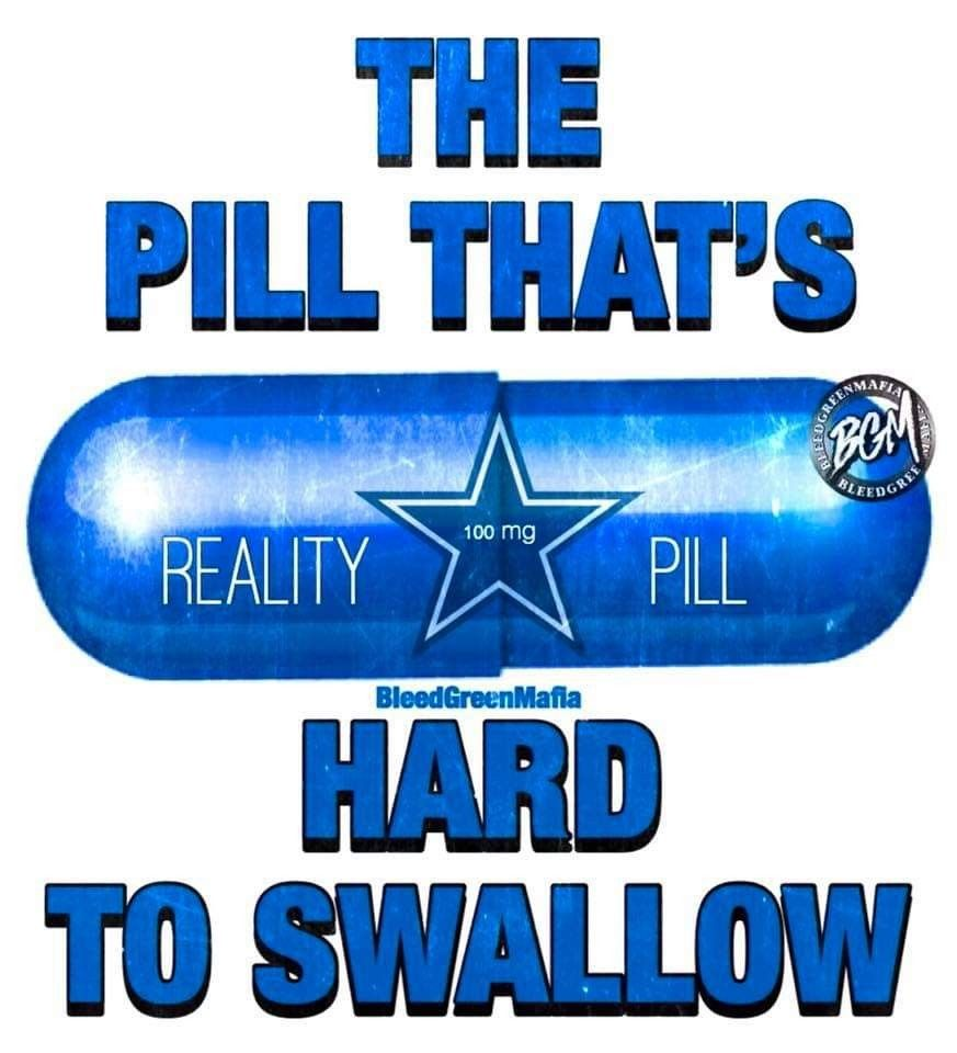 The Pill That S Hard To Swallow Cowboys Memes Dallas Cowboys Funny Funny Football Memes